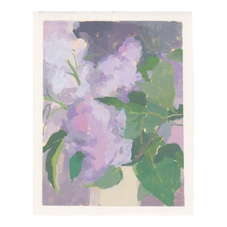 "Michelle Farro ""Lilac Vase"" Painting For Sale"