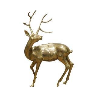 Sarreid Vintage Brass Standing Deer Statue For Sale