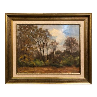 Mid-Century Framed Oil Painting on Canvas by Ludovic Janssen (1888-1954) For Sale