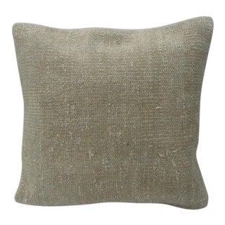 Turkish Vintage Kilim Handmade Beige Pillow Cover For Sale