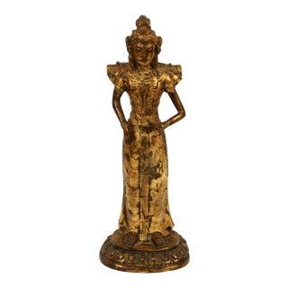 Antique Gilt Bronze Buddhist Sculpture, Thaiwan For Sale