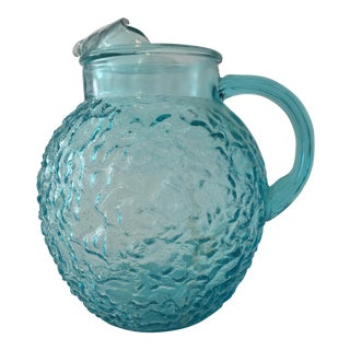 Anchor Hocking Aqua Lido Pitcher