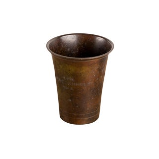 1930s Art Deco Ildfast Bronze Green Patina Cup