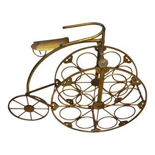 1960s Vintage High Wheel Bike Wine Rack For Sale