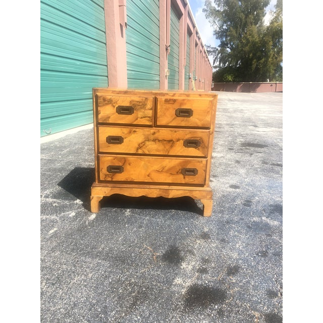 Italian Olive Burl Wood Chest of Drawers For Sale - Image 4 of 12