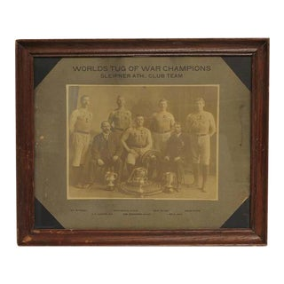 "Antique Framed ""Worlds Tug of War Champions"" Photograph For Sale"
