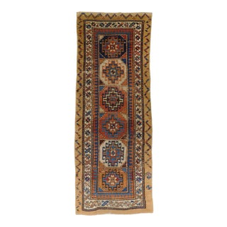 """Antique Caucasian Runner Rug. Reduced in Size. 2'8""""x 7'3"""" For Sale"""