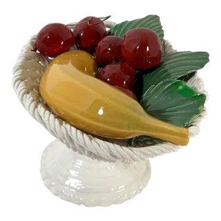 Cottage Ceramic Figural Fruit Bowl For Sale