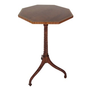 1950s Traditional Mahogany Kargas Candle Stand