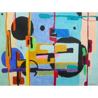 D. Wargon, Vintage French Mid-Century Abstract For Sale