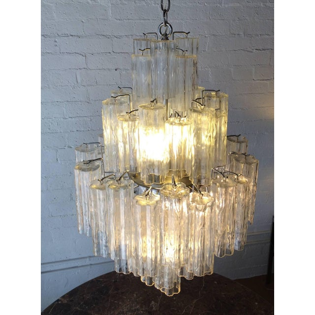 Tronchi Glass Chandelier by Venini for Murano - Image 7 of 9