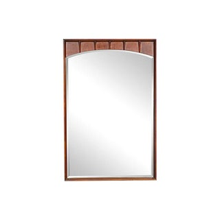 1960s Sculpted Walnut Wood Mirror
