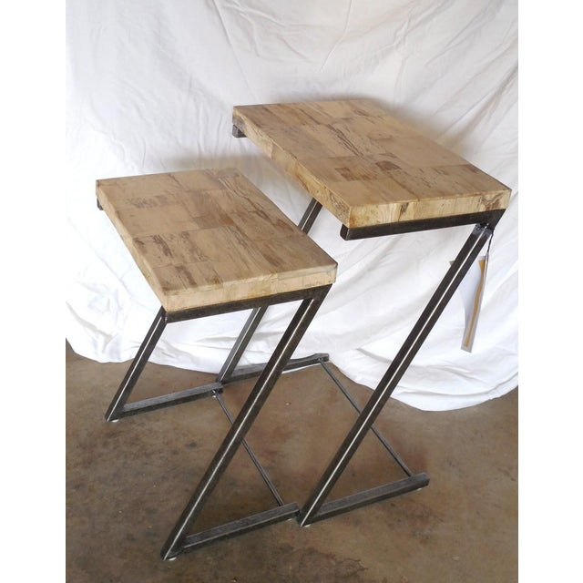 Bernhardt Petrified Wood Nesting Tables - A Pair - Image 5 of 9