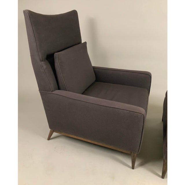 1950s Paul McCobb for Directional High Back Lounge Chair and Ottoman For Sale In New York - Image 6 of 10