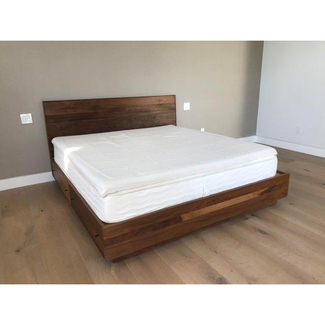 Modern Walnut California King Bed Frame | Chairish