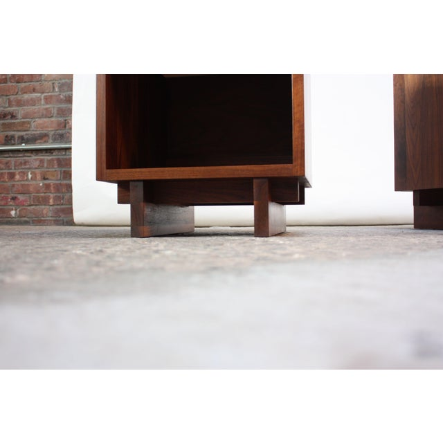 Pair of Vintage New England Solid Walnut Nightstands - Image 9 of 13