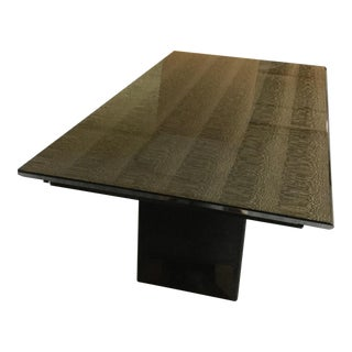 "1990's Italian Contemporary ""Giorgio Collection"" Snakewood Dining Table For Sale"