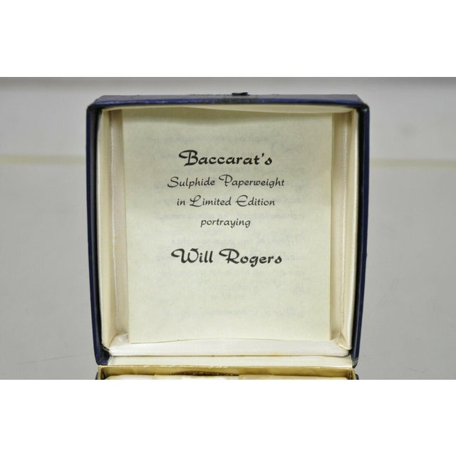 1960s Vintage Baccarat Sulphide Paperweight For Sale In Philadelphia - Image 6 of 10