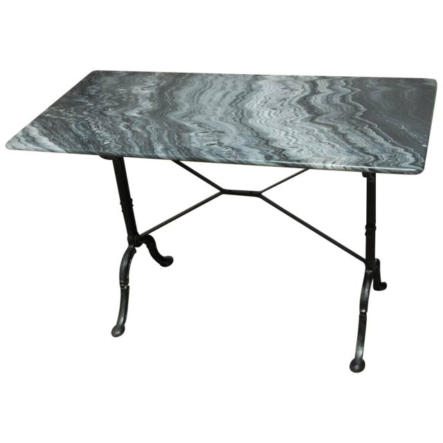 French Marble Bistro Table - Image 1 of 7