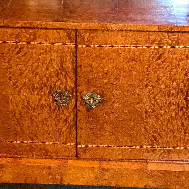French Sienna Marble and Burlwood Bar or Sideboard For Sale - Image 12 of 13