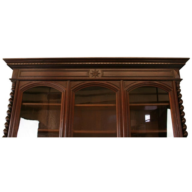 Antique French Hunt-Style Bookcase & Buffet - Image 2 of 8