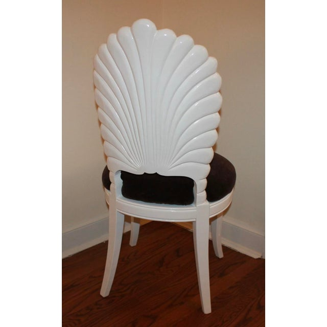 Vintage Shell Back Grotto Chair, Freshly and Professionally Lacquered For Sale - Image 4 of 9