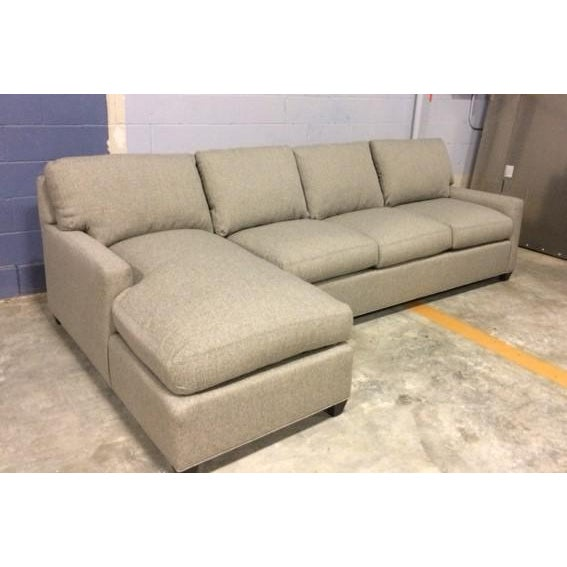 Textile Lee Industries Custom Sectional For Sale - Image 7 of 7