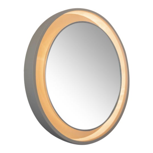 French Art Deco Porthole Mirror With Light For Sale