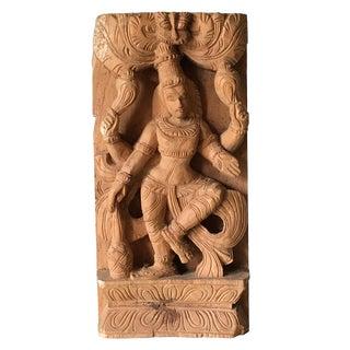 Vintage Hindu Deity Shiva Nataraja Wood Carving Sculpture For Sale
