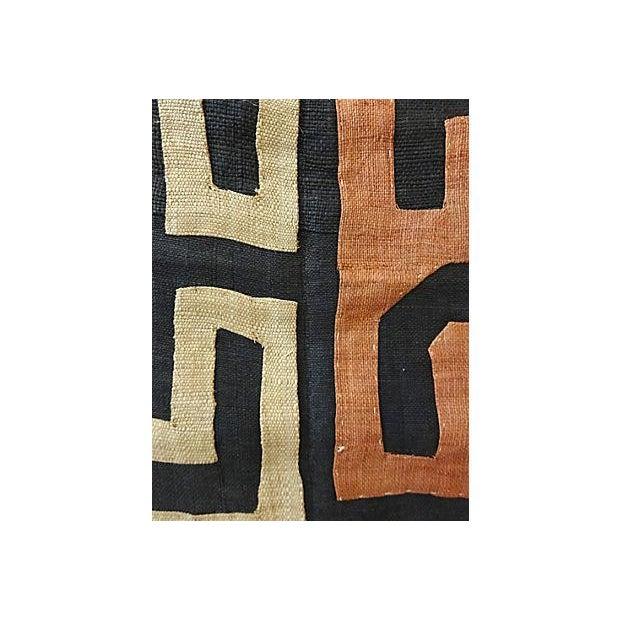 African Kuba Textile Raffia Wall Hanging - Image 4 of 9
