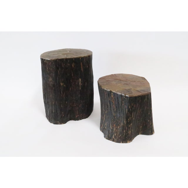 Copper Log Bookends - A Pair - Image 2 of 5