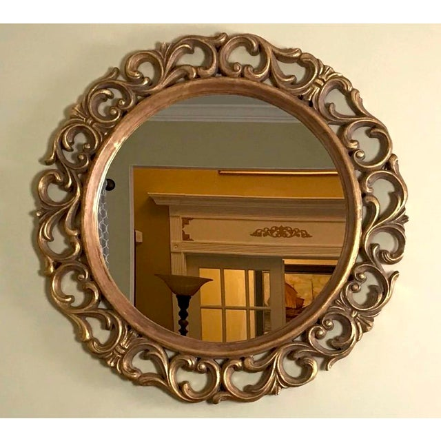 Wood George II Wall Mirror, Antique Vintage Furniture Reproduction, Victorian Furniture For Sale - Image 7 of 7