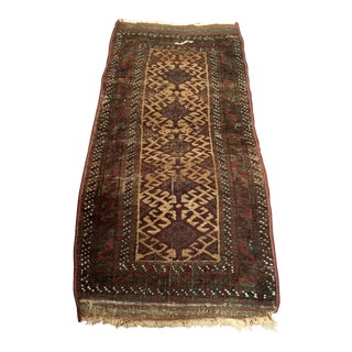 Early 20th Century Antique Baluch Rug - 1′7″ × 3′1″ For Sale