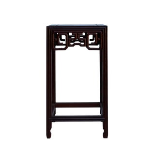 """Chinese Brown Wood Square Tall Table Top Stand Display Easel 4.75"""" For Sale"""