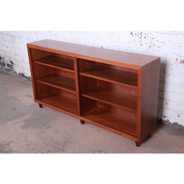 Danish Modern Edward Wormley for Dunbar Mahogany Double Bookcase For Sale - Image 3 of 11