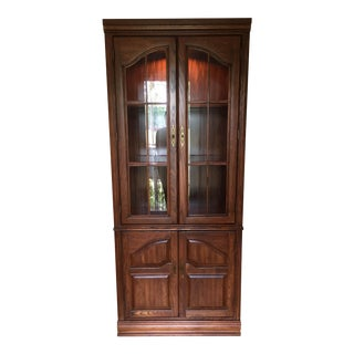 English Oak China Display Cabinet