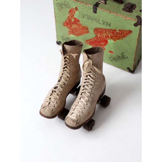 1940s Chicago Roller Skates with Case - Image 9 of 9