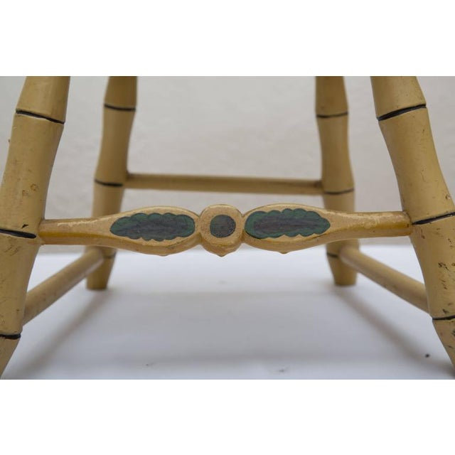 19th Century Carved and Stenciled Childs Chair For Sale - Image 9 of 9