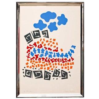 1970s Vintage Prado Silkscreen Print For Sale
