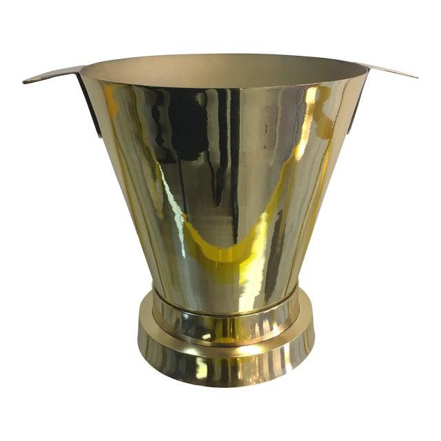 1940's Art Deco Brass Ice Bucket - Image 1 of 7