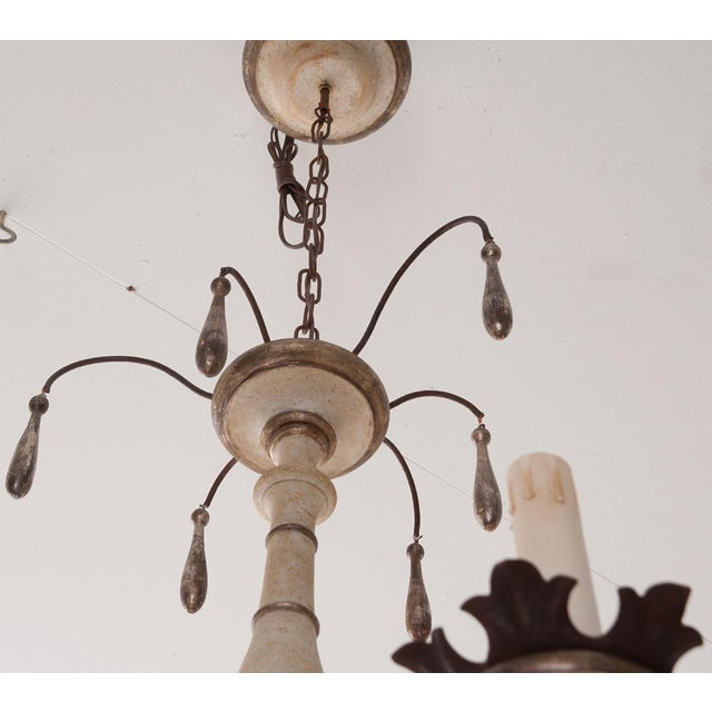 Italian Reproduction Painted 12 Light Chandelier For Sale - Image 4 of 11