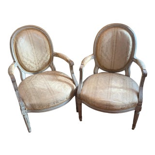 19th Century Louis XVI Chairs - A Pair For Sale