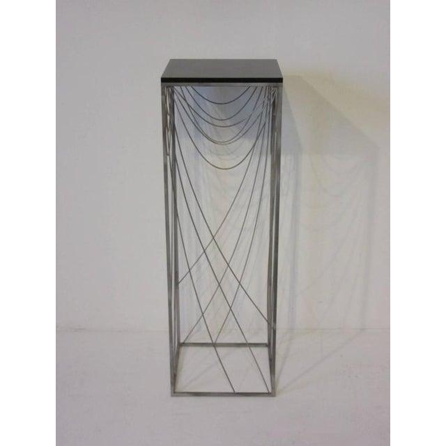 Wood Curtis Jere Sculptural Pedestal For Sale - Image 7 of 7