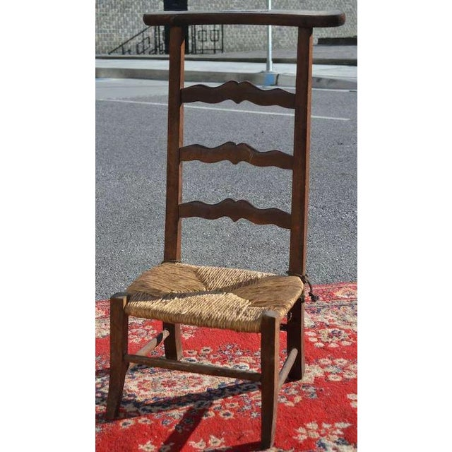 Wonderful plain rush seat Prie Dieu from some quaint little village in France. Not as ornate or decorative as some other...