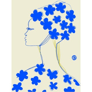 """Nina Ricci Blue Fleur"" Limited Edition Print by Annie Naranian For Sale"