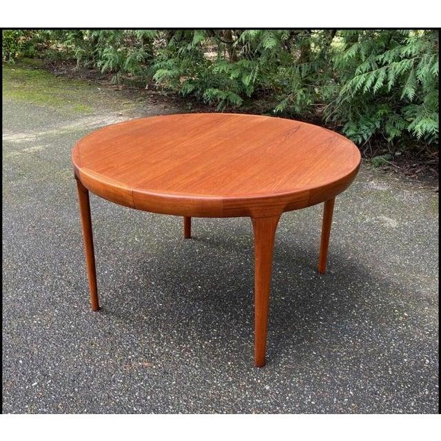 Offering an original vintage IB Kofod Larsen for Faarup Mobelfabrik Danish Mid Century Modern MCM teak oval dining table,...
