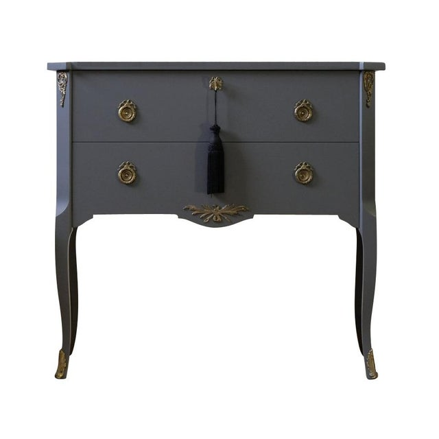 Metal Classic Gustavian Louis XV Style Chest For Sale - Image 7 of 7