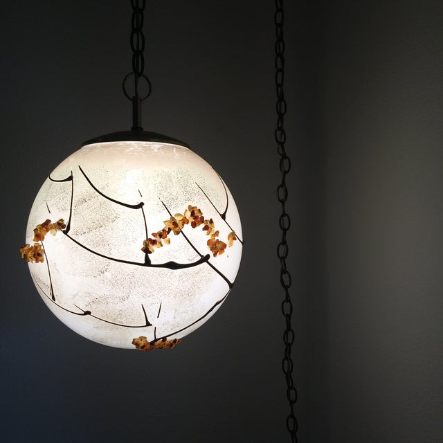 Mid-Century Globe Swag Lamp - Image 3 of 11