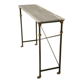 Customizable Console Table in Stainless and Bronze