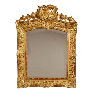 Vintage French Regency Period Gold Giltwood Wall Mirror For Sale